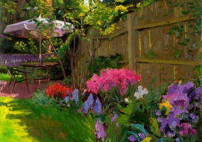Garden with Azaleas    oil on  linen   1999